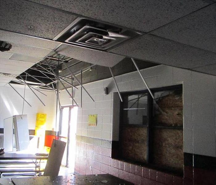 Ceiling Damage in a School