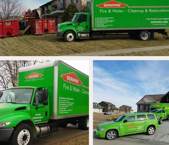 General SERVPRO Emergency Green Vehicles are equipped to cleanup your emergencies.