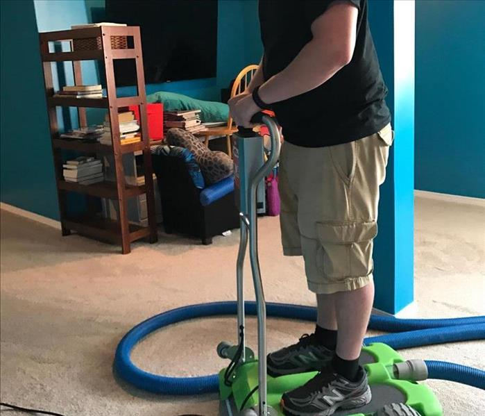 Water Damage Removing water from Carpet in Ankeny